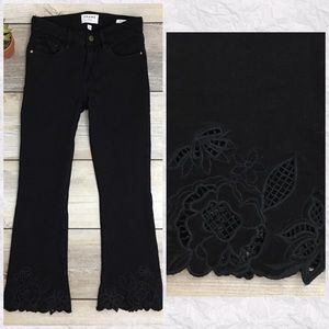 Frame Le Crop Mini Boot Embroidered Eyelet Jeans